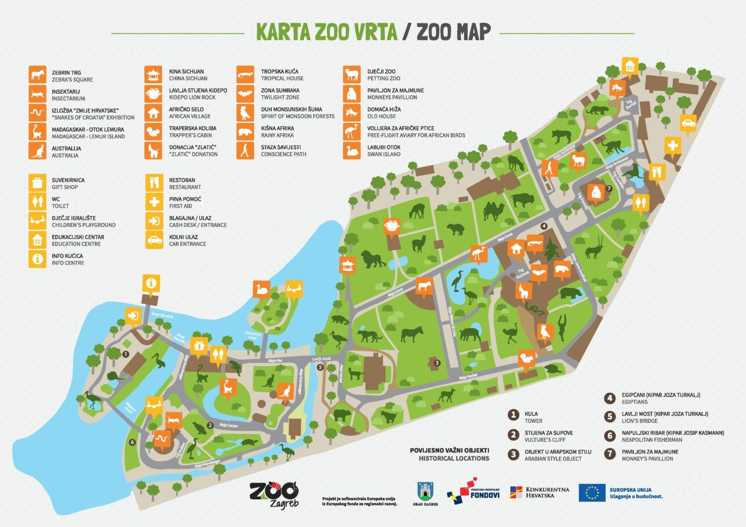 Karta Zoo Zagreb