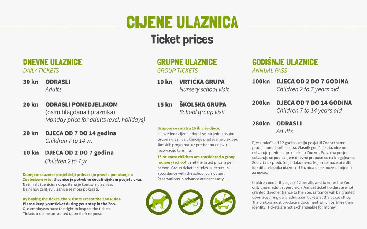 Informacije Zoo Zagreb