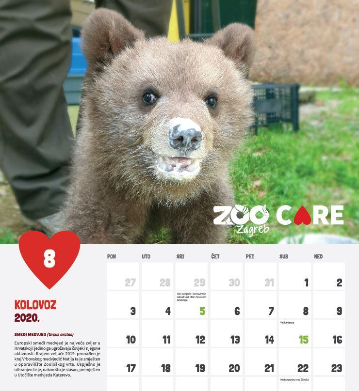 Kalendar Za 2020 Godinu Care U Srcu Zoo Zagreb