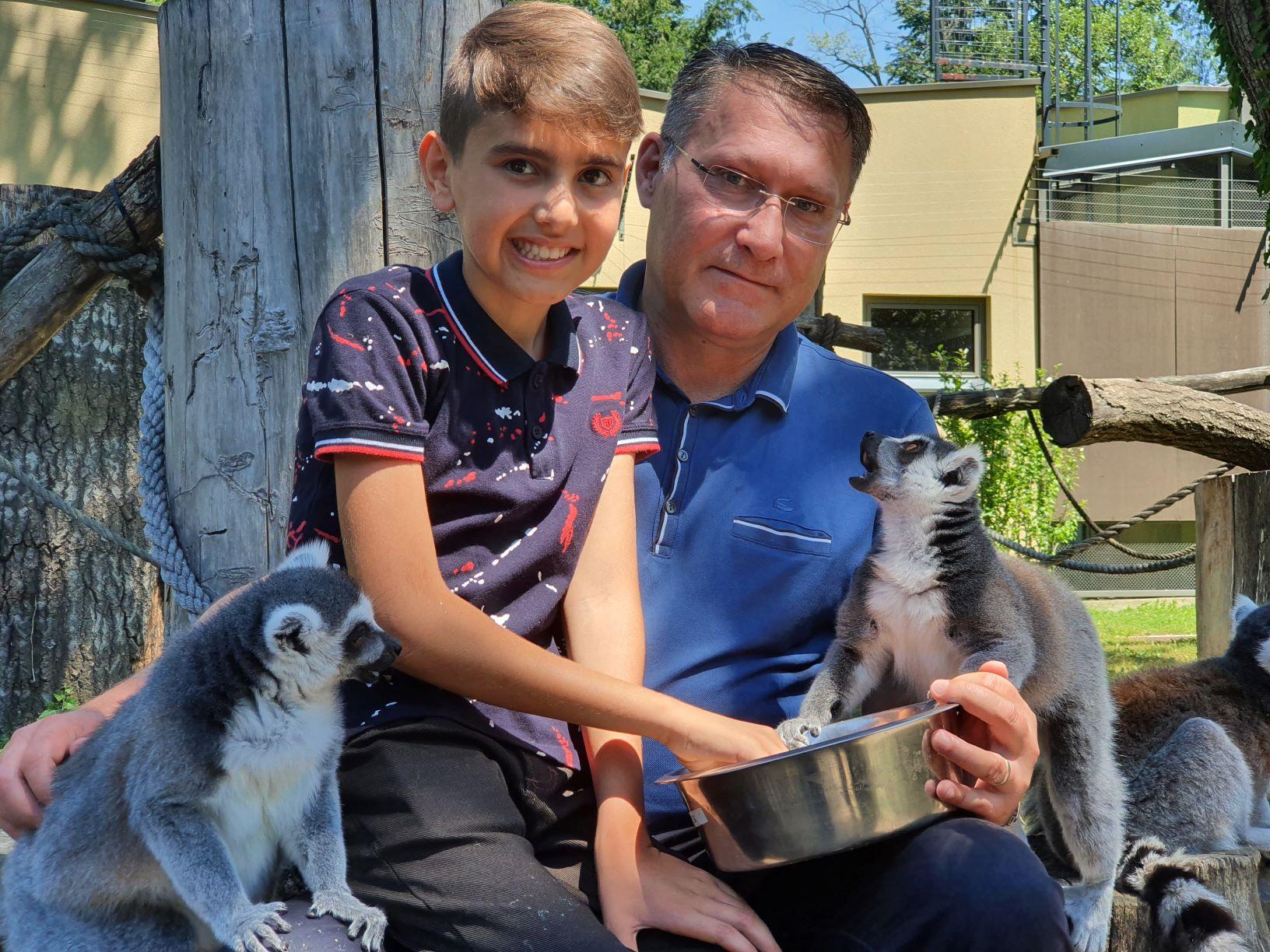 Dječak iz Sirije prvi put u zoološkom vrtu