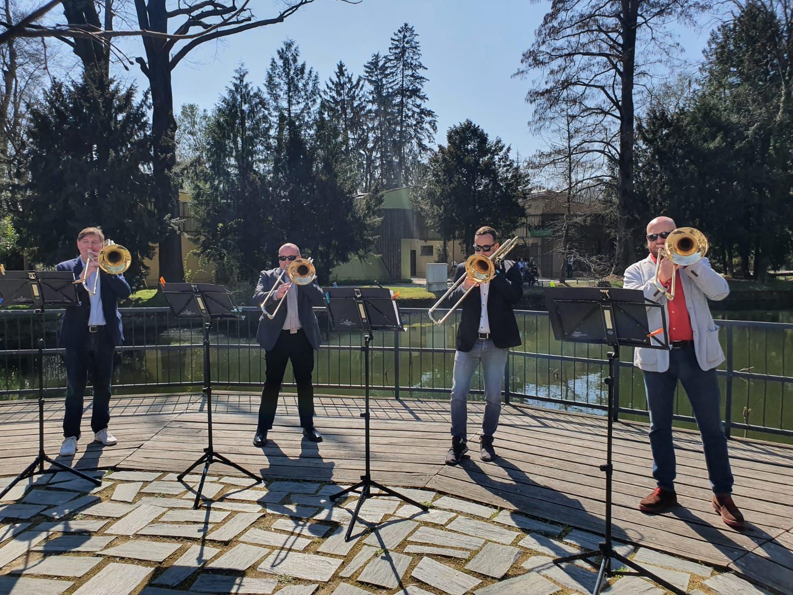 Maksimirom odjeknuo koncert Kvarteta trombona Zagrebačke filharmonije