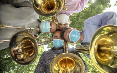 Kvartet trombona Zagrebačke filharmonije na Labuđem otoku