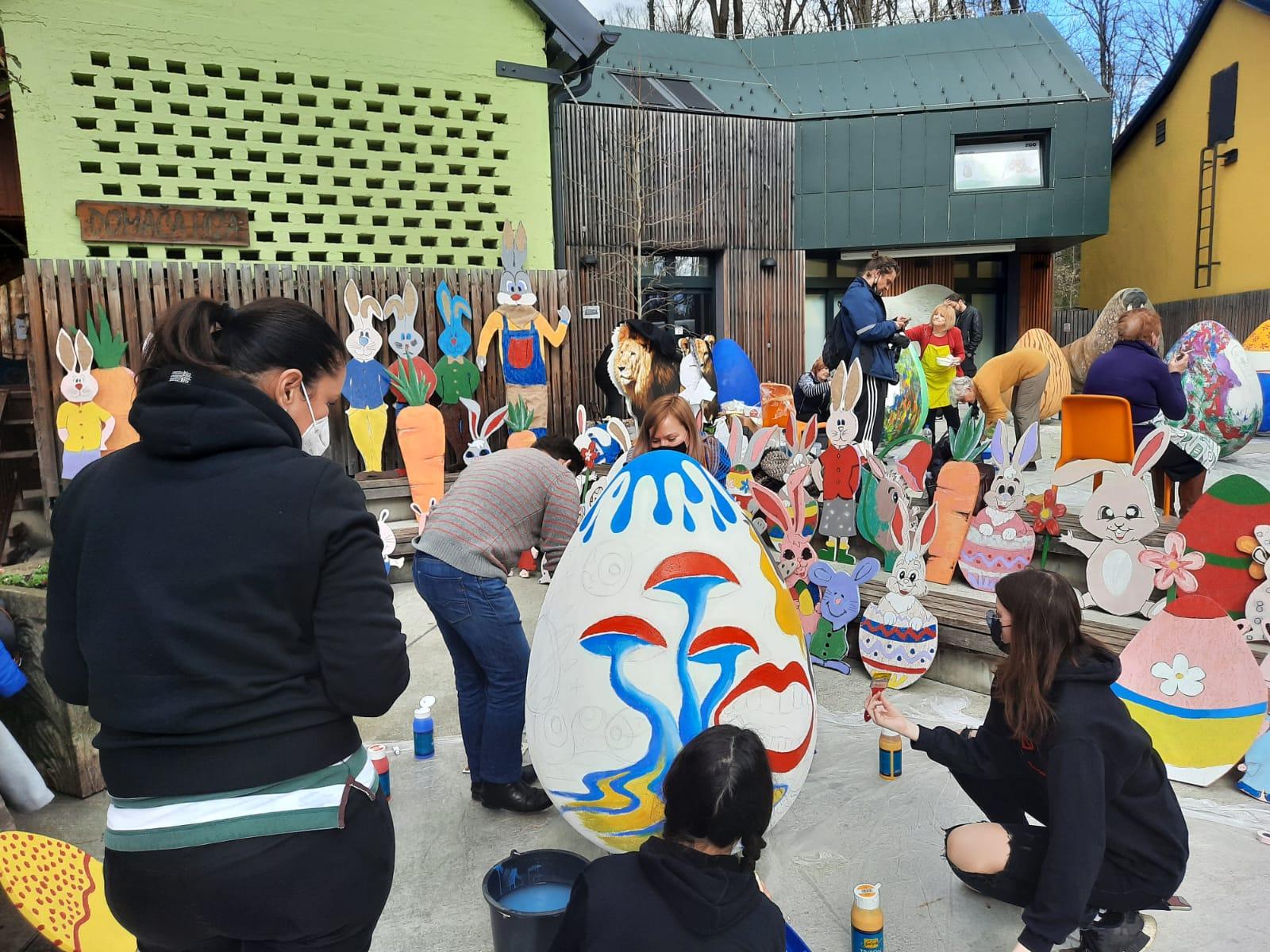 Velike pisanice za Zoološki vrt grada Zagreba oslikavaju vatrogasci, umjetnici i kreativci