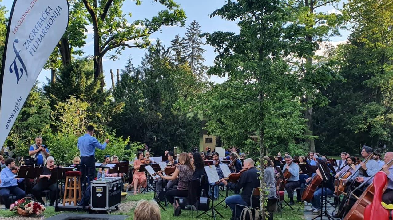 Gudački kvartet i Kvartet rogova Zagrebačke filharmonije na Labuđem otoku